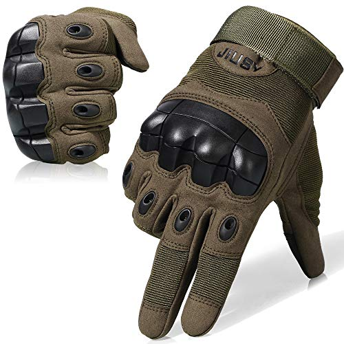 Jiusy Touch Screen Hard Knuckle Tactical Gloves