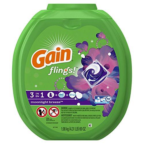 Gain Flings Laundry detergents