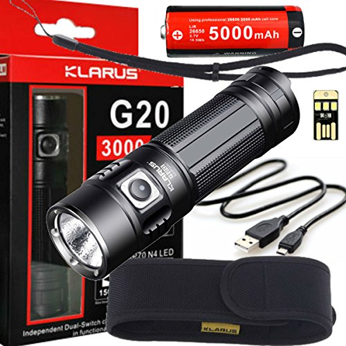 Klarus G20 3000 Lumen Flashlight