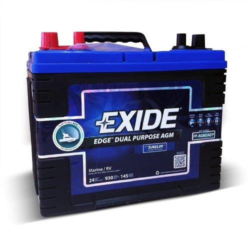Exide Edge FP-AGM24DP Marine battery