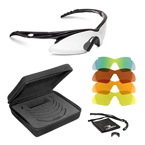 five interchangeable lenses which include