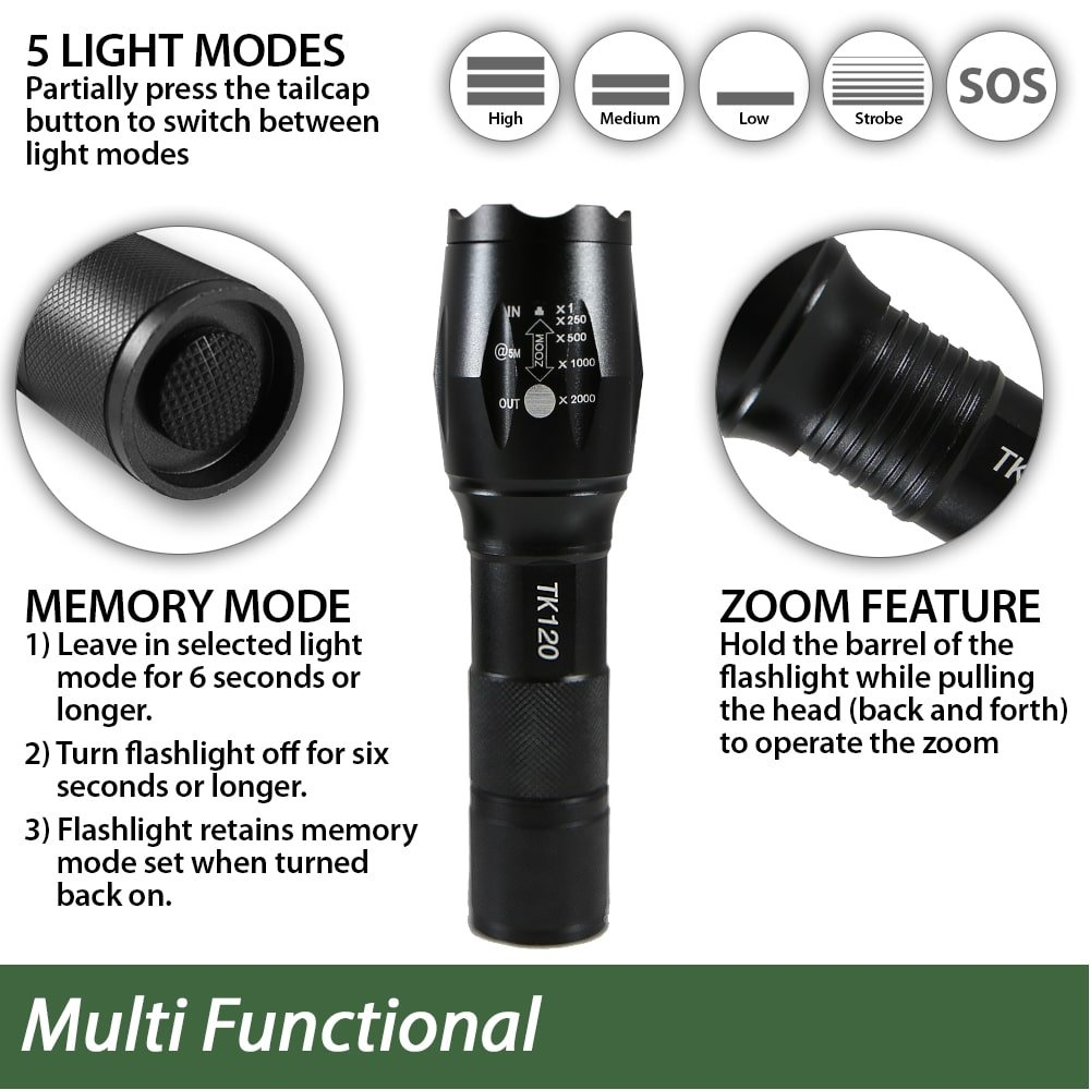 rechargeable batteries flashlight