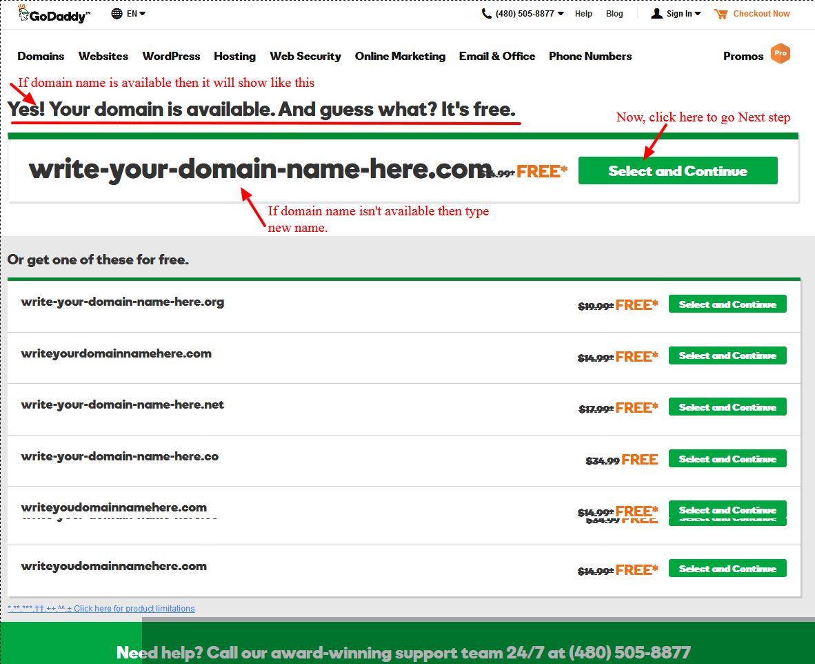 Godaddy domain only 1 dollar