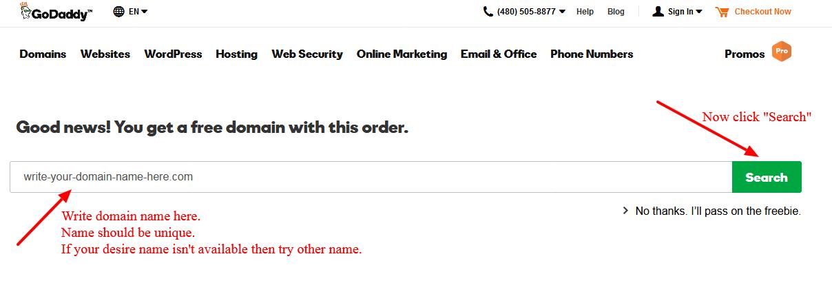 Godaddy free domain registration tricks